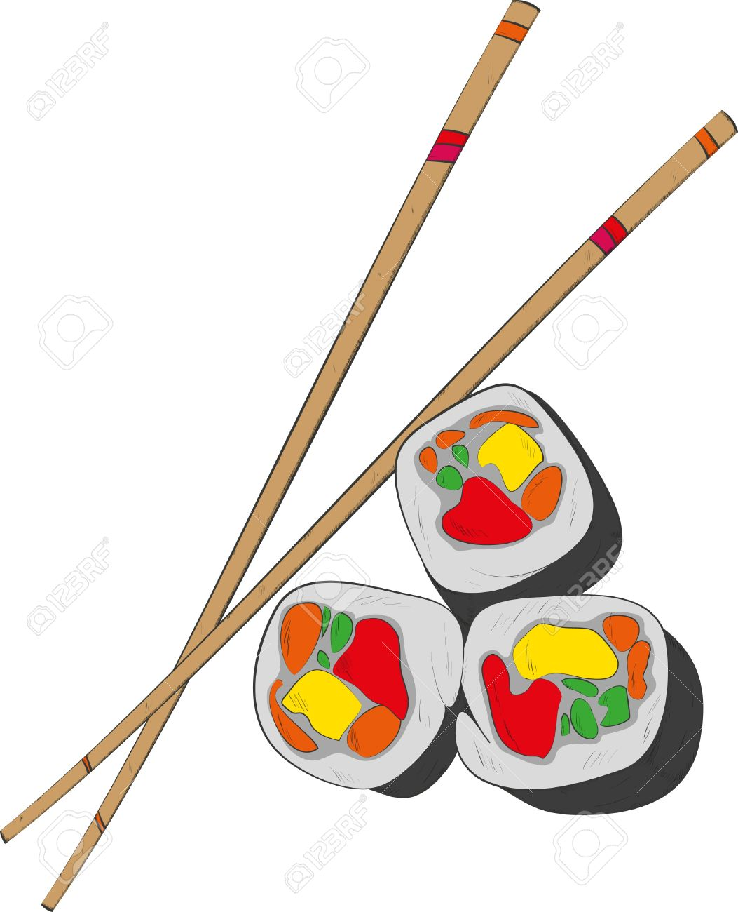 Sushi sticks clipart.