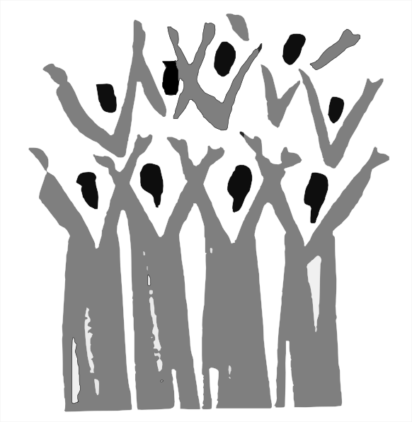 Choir Silhouette Clipart.