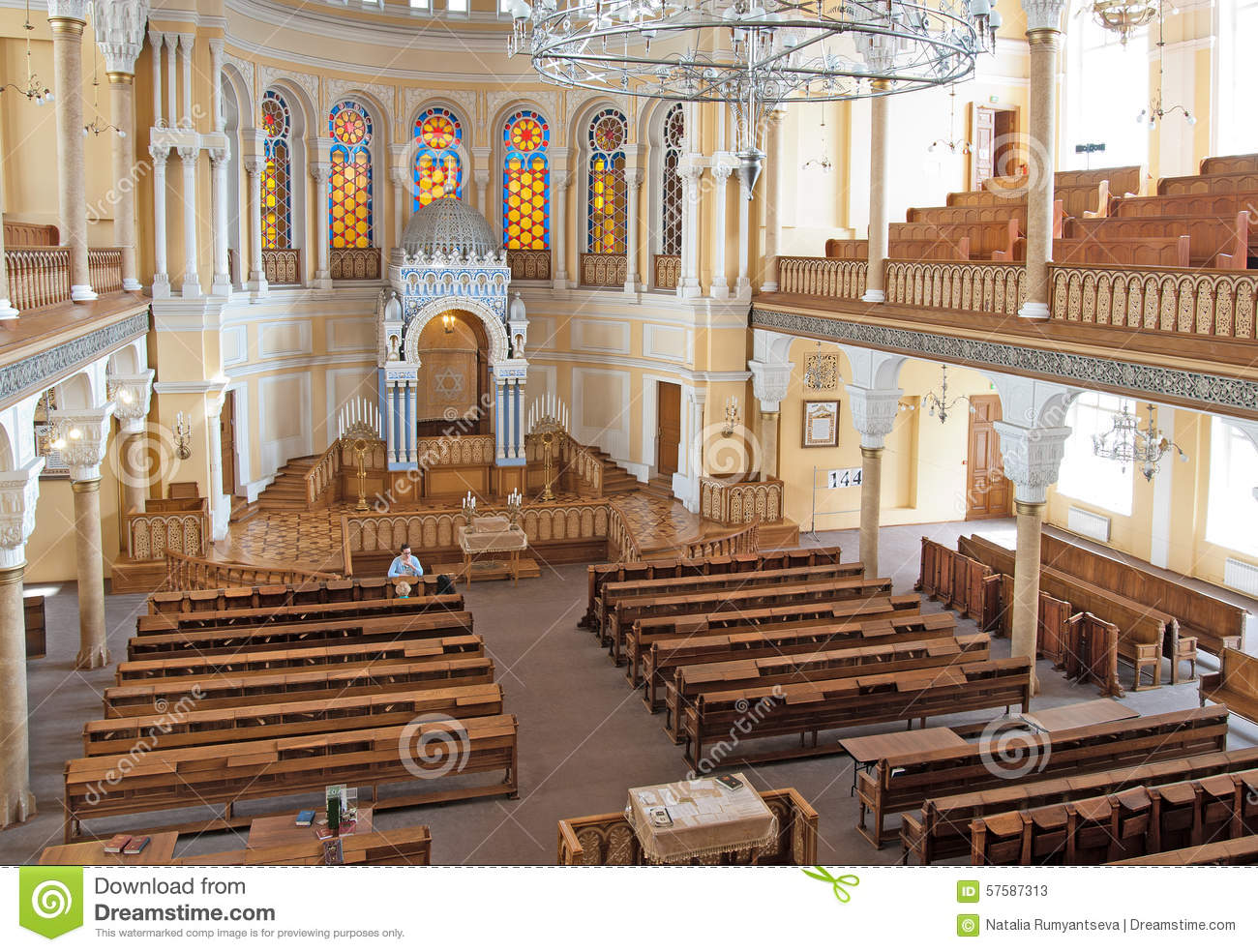 The Grand Choral Synagogue Of Saint Petersburg. Russia Editorial.
