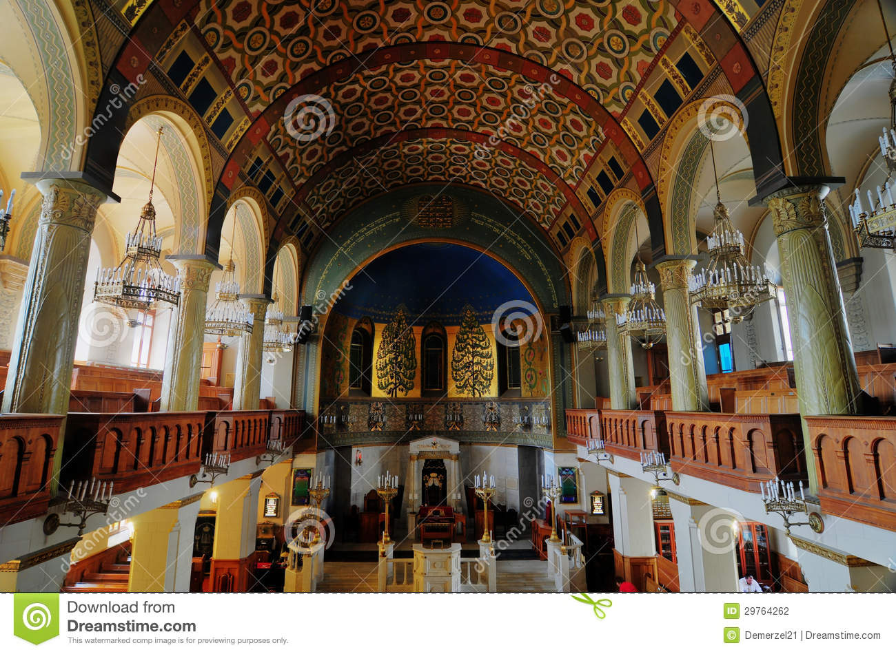 Moscow Choral Synagogue Stock Photography.