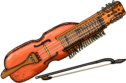 PICTURES OF MUSICAL INSTRUMENTS.