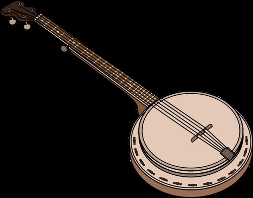 Vector image of banjo chordophone.