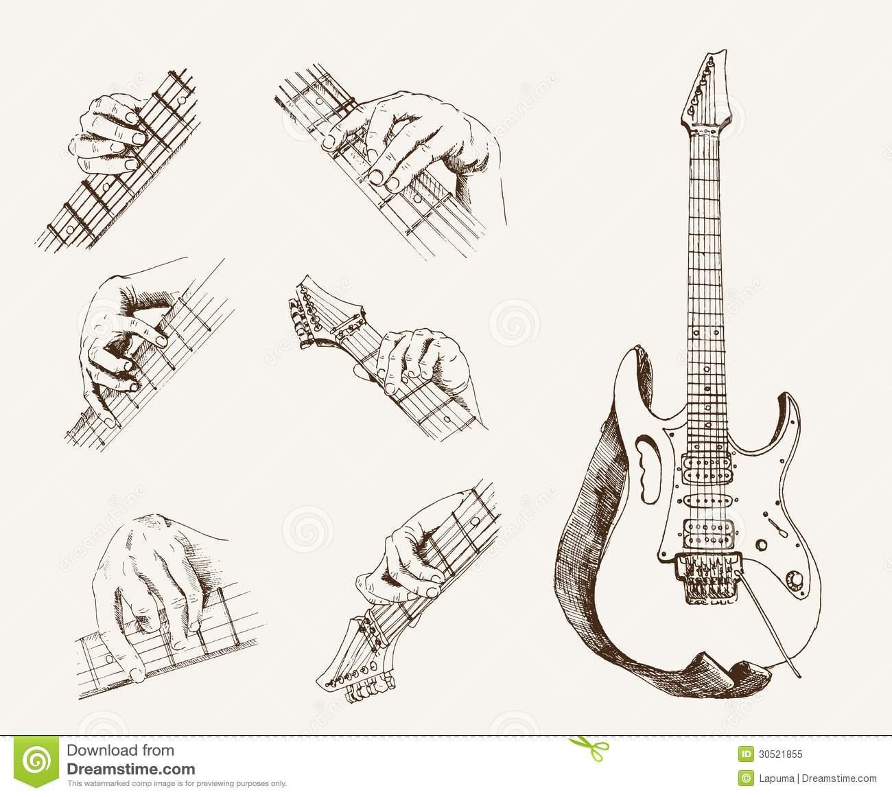 Guitar chords clipart.