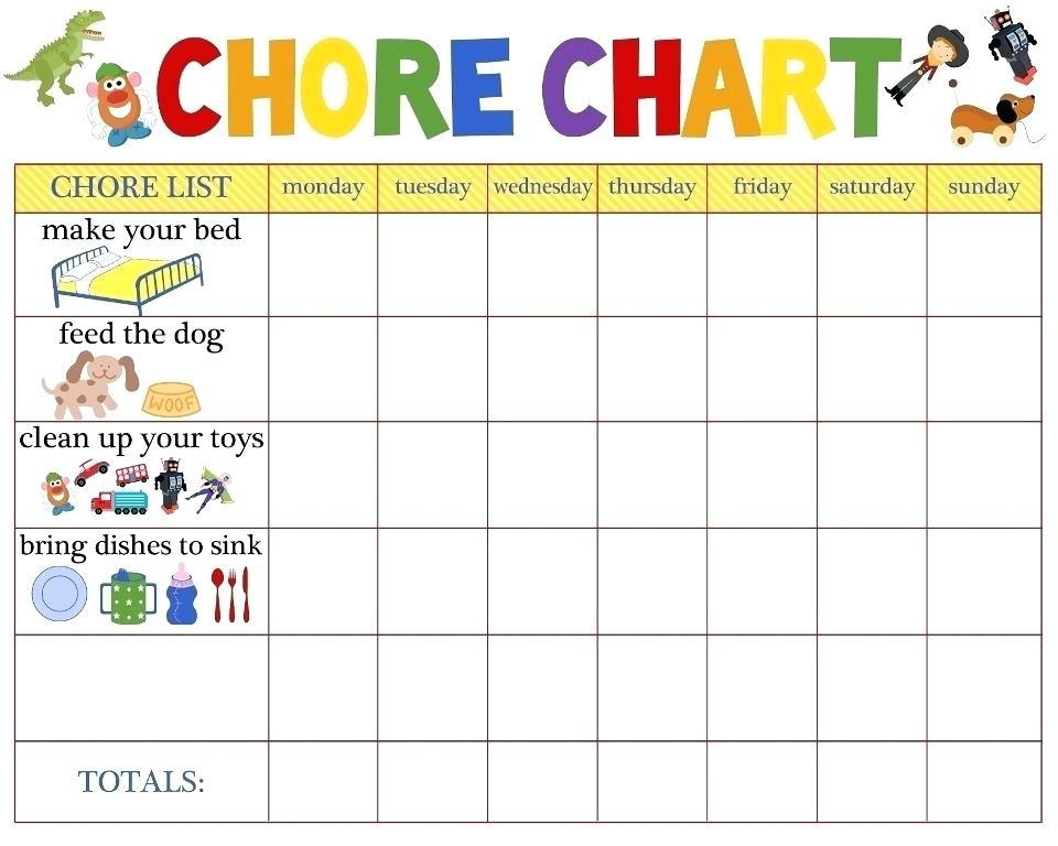 Toddler Chore Chart Toddler Chore Chart Clip Art.