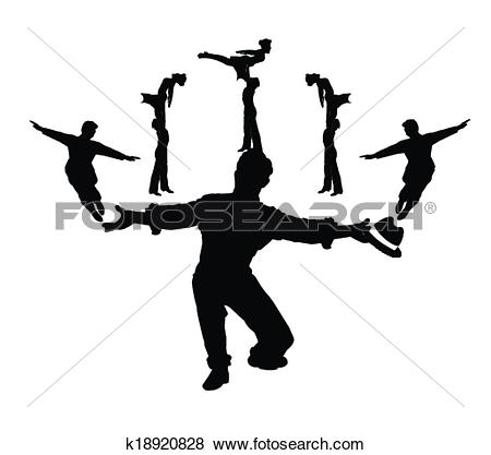 Clip Art of dance sequence choreography k18920828.