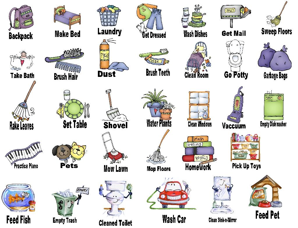 chores clipart cute - Clipground