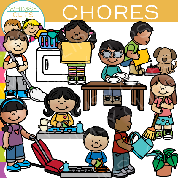 Kids Chores Clip Art , Images & Illustrations.