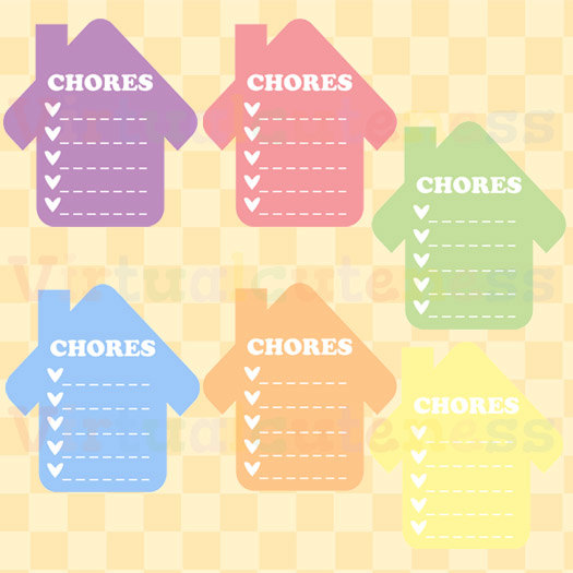 House Chores Clipart Daily Planner To Do Printable.