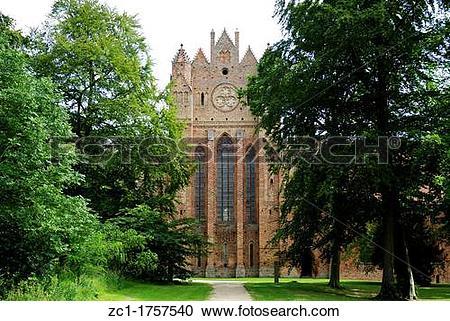 Stock Photography of Cistercian monastery Chorin in Brandenburg.