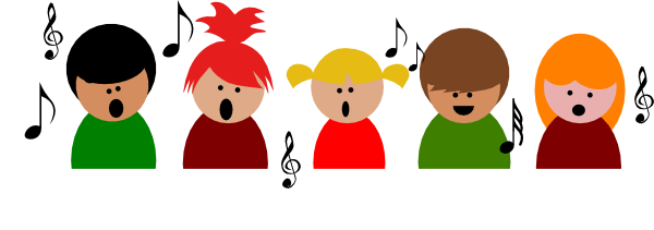 Animated chorus clipart.