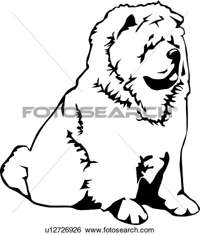 Clipart of Chow Chow u18240180.