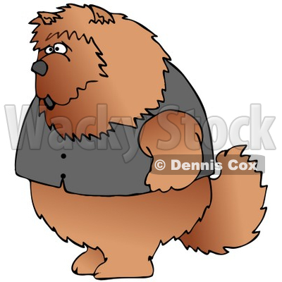 Chow Chow Dogs Clipart by Dennis Cox.