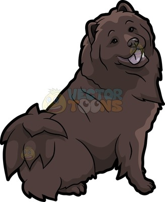 chow chow Cartoon Clipart.