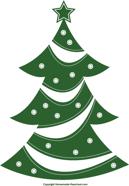 Black Christmas Tree Graphic.