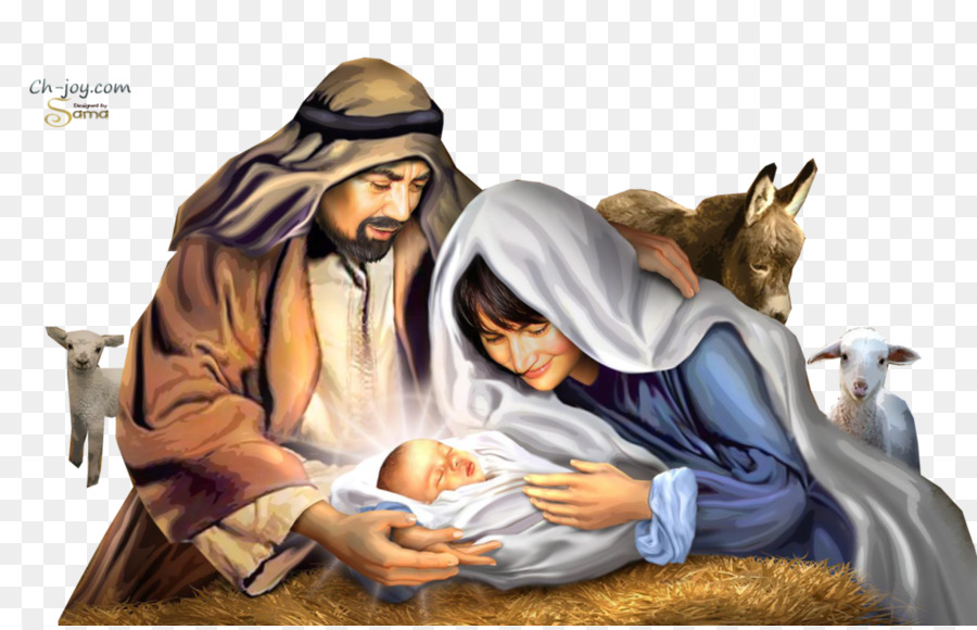 Holy Family Christmas png download.