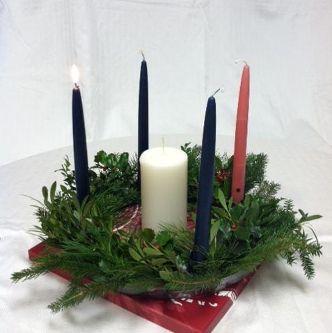 The Advent Wreath.