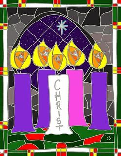 Christmas Eve Christ Candle Art.