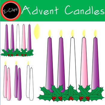 Advent Candle Set Pink Mary White Christ Purple Lit Unlit Transparent Flame.