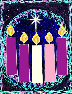 Advent Candle Bulletins.