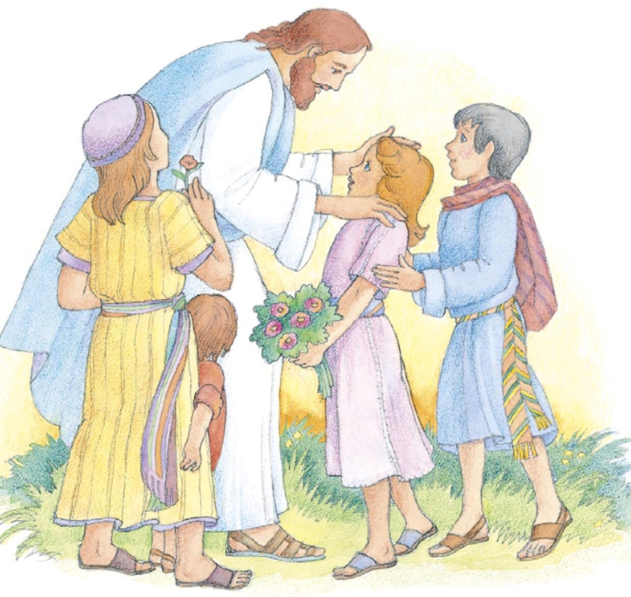Jesus friend child clipart.
