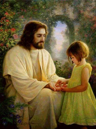 clip art christ and little child.