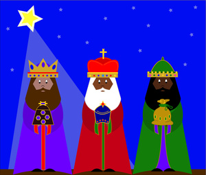 Christ child and christmas tree clipart.