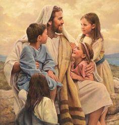 Lds clipart jesus and children.