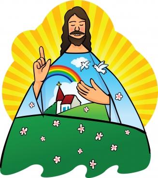 Clip art of jesus with children.
