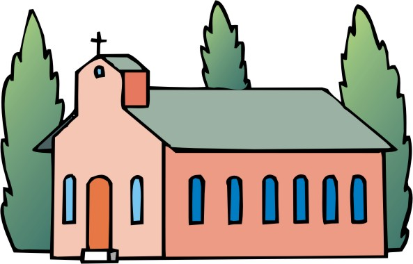 Black Church Clip Art.