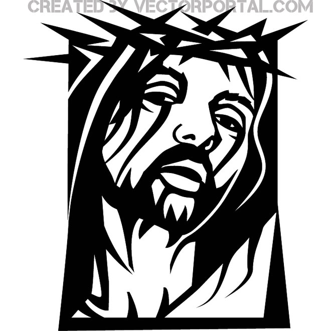 Jesus Christ Clip Art Graphics Free Vector.