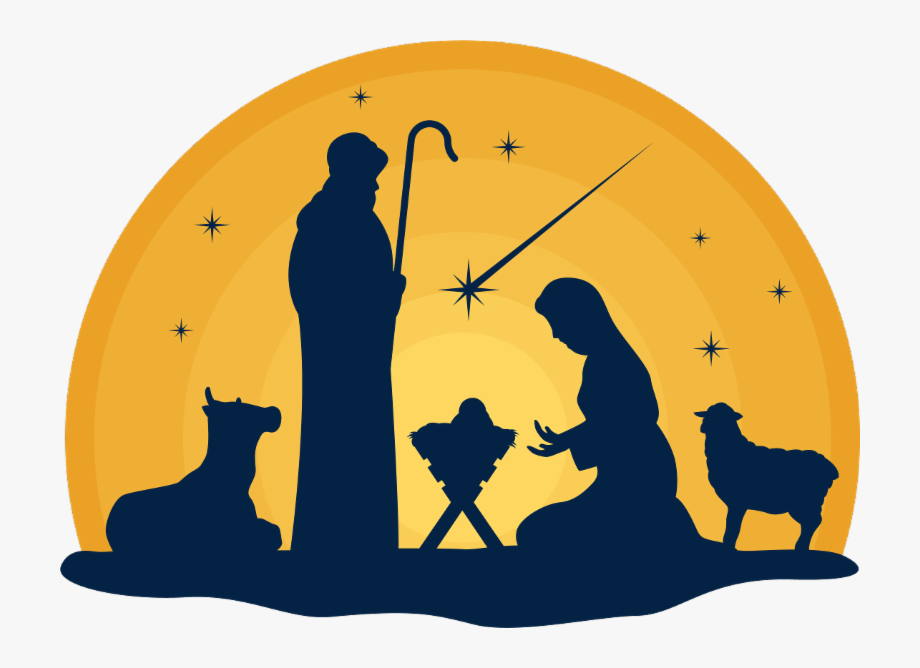 4k Merry Christmas Jesus Clipart , Png Download.