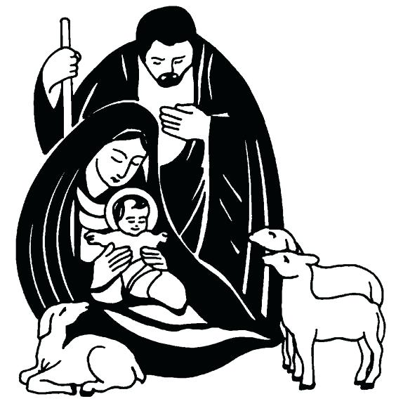 Jesus In A Manger Clipart.