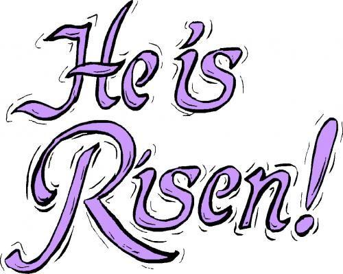 he is risen clip art free.