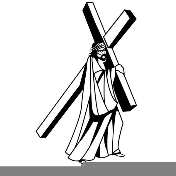 Free Clipart Of Jesus Carrying The Cross.
