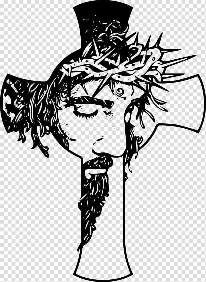 Christian cross Christianity Crucifix , jesus christ transparent.