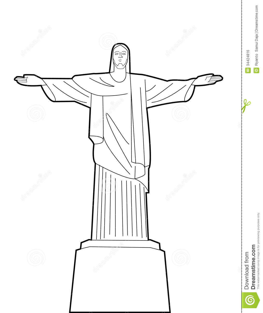Christ The Reedemer Statue Rio De Janeiro, Brazil Royalty Free.