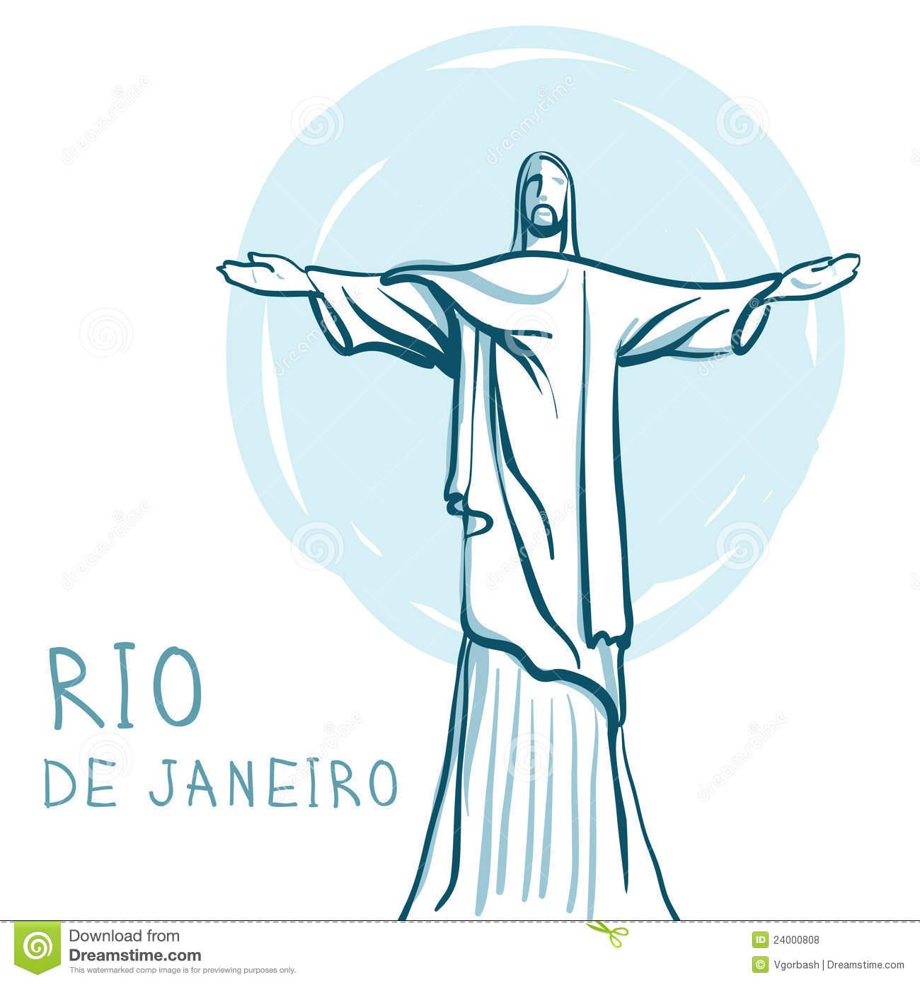 Rio De Janeiro And Christ The Redeemer, Brazil Royalty Free Stock.