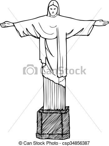 Cristo redentor Vector Clipart Royalty Free. 97 Cristo redentor.