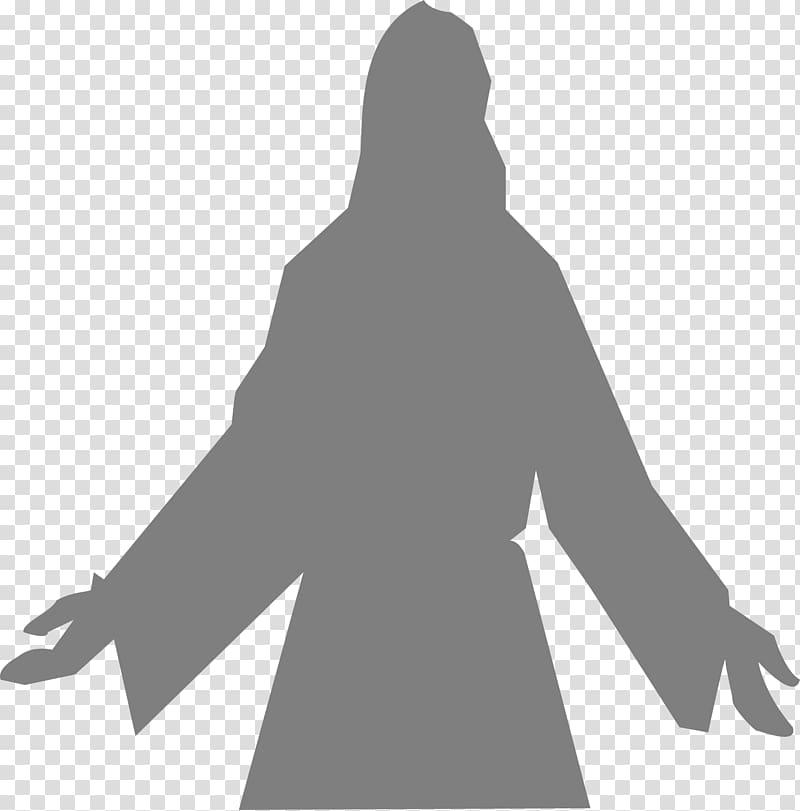 Silhouette Prophet , christ transparent background PNG clipart.