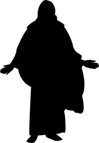 Mormon Share } Christ Silhouette.