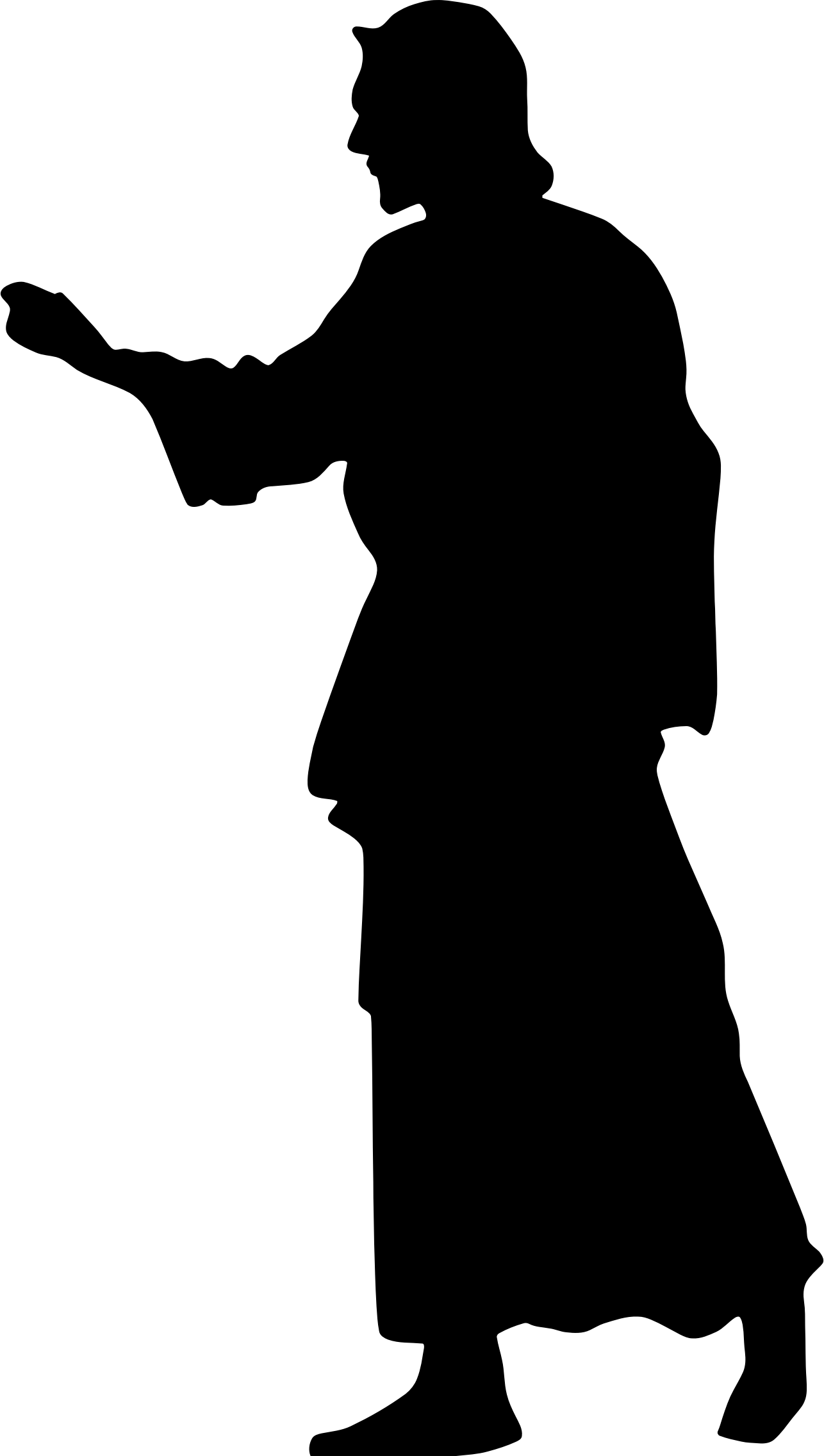 Silhouette Crucifixion of Jesus Clip art.
