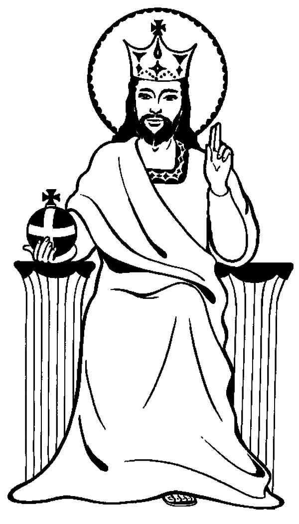 Free Christ The King Coloring Page, Download Free Clip Art.