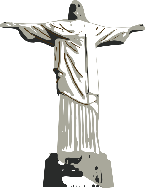 Christ The Redeemer Statue clip art Free Vector / 4Vector.