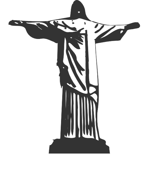 Christ the redeemer silhouette free clipart png.