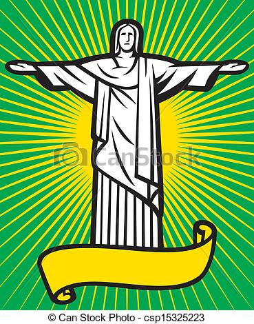 Vector Illustration of Christ the Redeemer statue.