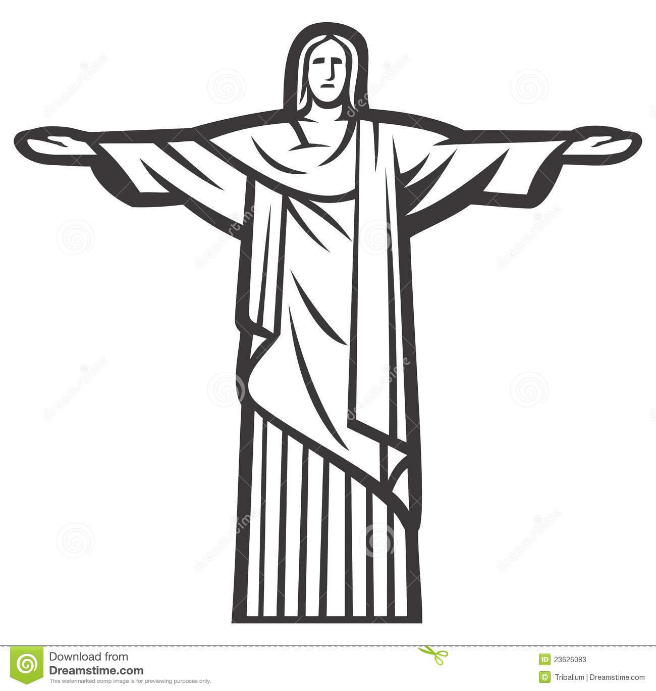 Christ The Redeemer Statue Stock Photos.