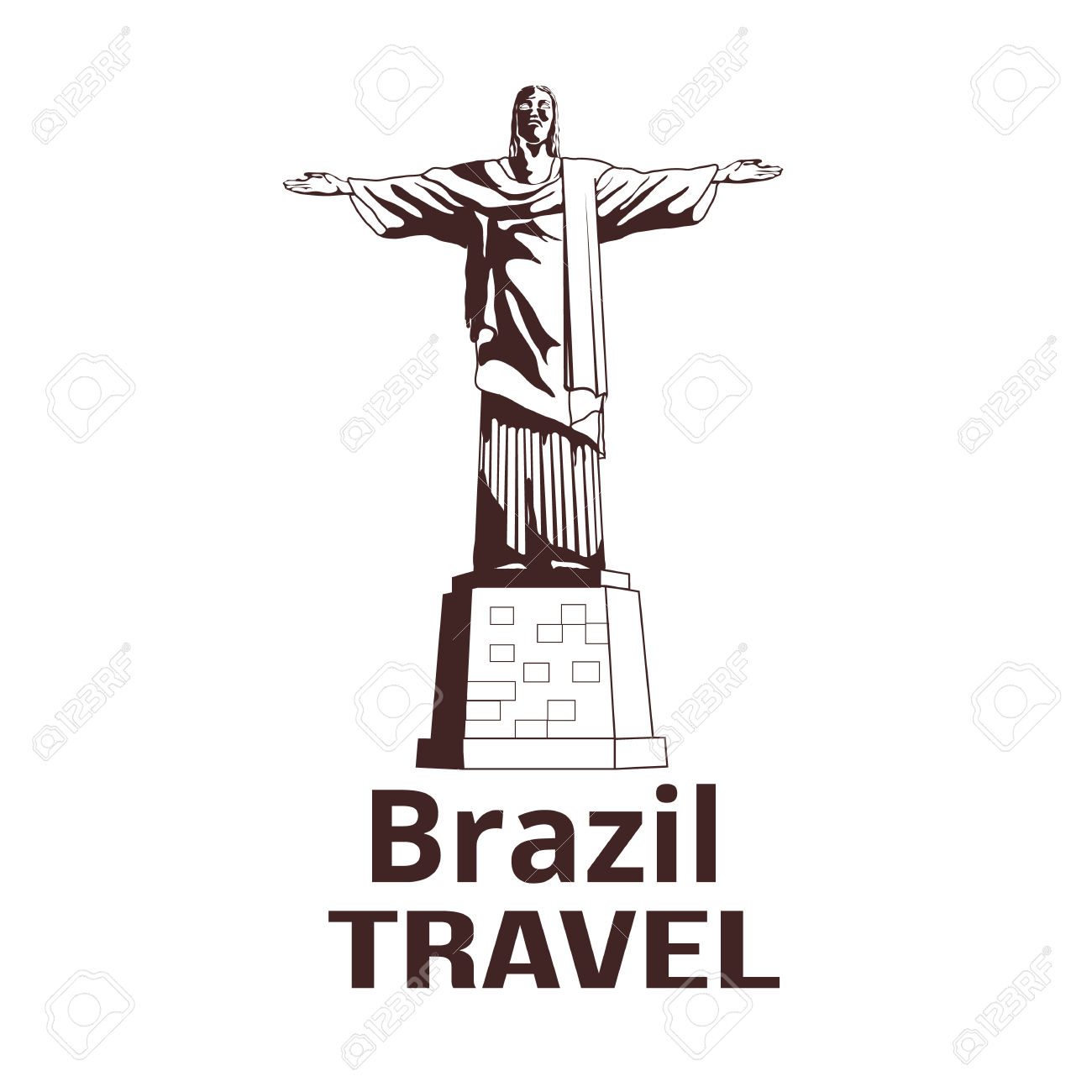 Christ The Redeemer Statue In De Janeiro Royalty Free Cliparts.