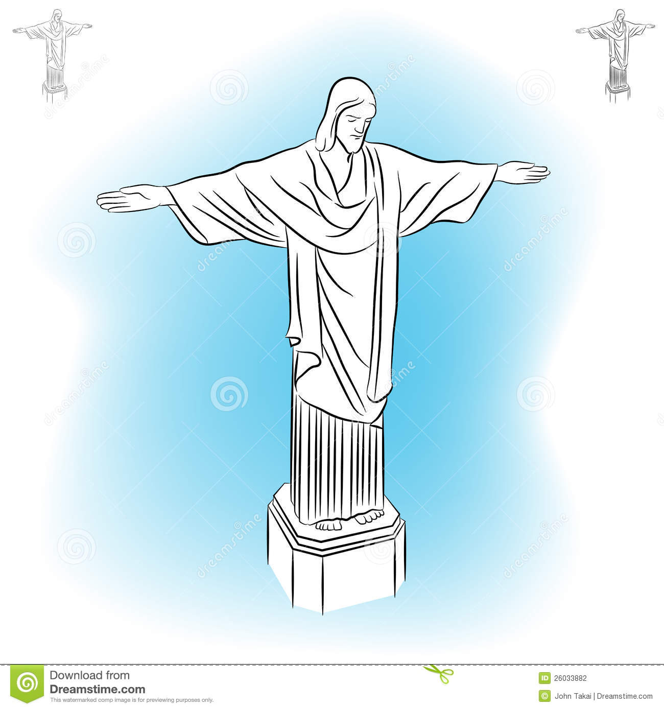 Christ Redeemer Statue. Stock Photography.