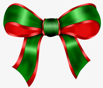 Christmas bow PNG clipart.