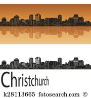 Christchurch skyline Clipart and Illustration. 12 christchurch.